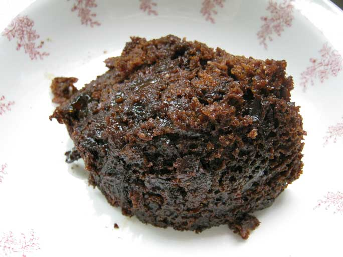 Portion of Christmas pudding
